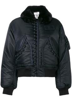 Comme des Garçons cropped bomber jacket