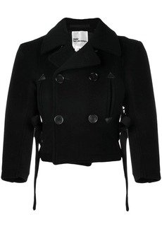 Comme des Garçons cropped double-breasted jacket
