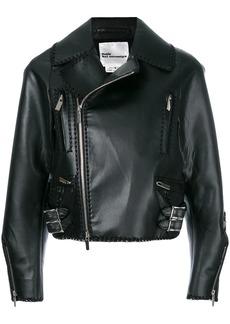 Comme des Garçons cropped laced hem biker jacket