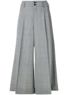 Comme des Garçons cropped wide-leg trousers