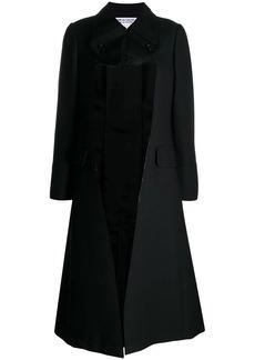 Comme des Garçons cut-out lapel trench coat