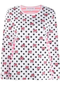 Comme des Garçons x Disney dotted long-sleeved T-shirt