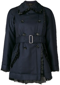 Comme des Garçons double breasted jacket with pleated trim