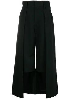 Comme des Garçons double-layer cropped trousers