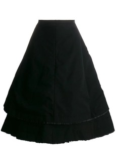 Comme des Garçons double-layer full skirt