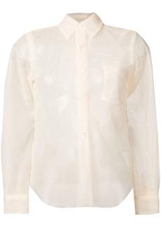 Comme des Garçons double layer tulle shirt