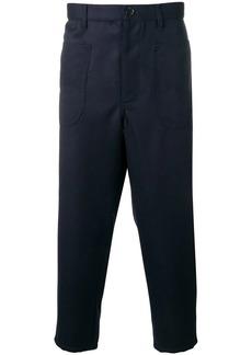 Comme des Garçons drop-crotch cropped trousers