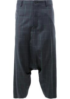Comme des Garçons drop-crotch plaid trousers
