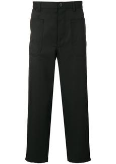 Comme des Garçons dropped-crotch cropped trousers
