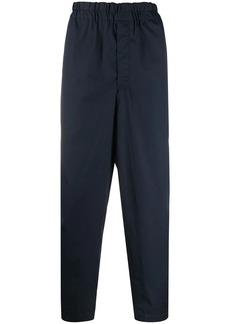 Comme des Garçons elastic-waistband tapered trousers
