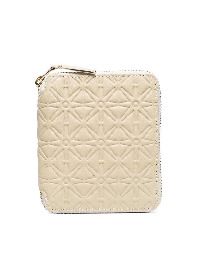 Comme des Garçons embossed star pattern wallet