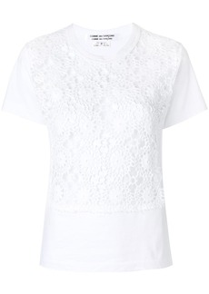 Comme des Garçons embroidered fitted top