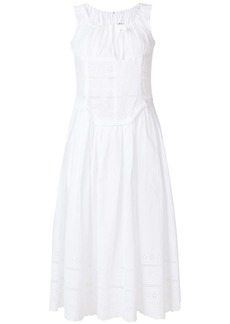 Comme des Garçons embroidered flared midi dress
