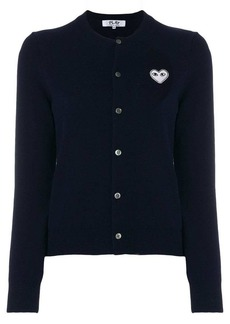 Comme des Garçons Embroidered heart cardigan