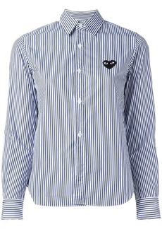 Comme des Garçons embroidered heart striped shirt