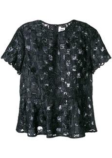 Comme des Garçons embroidered lace T-shirt