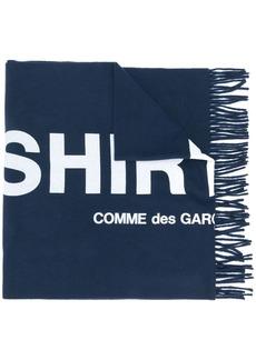 Comme des Garçons embroidered logo scarf