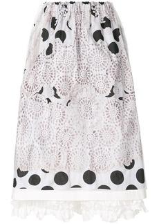 Comme des Garçons embroidered polka dot skirt