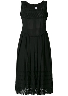 Comme des Garçons embroidered trim midi dress