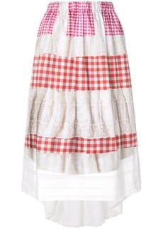 Comme des Garçons embroidered vichy skirt