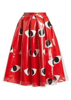 Comme des Garçons Eye-Print Vinyl Layer A-Line Skirt