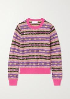 Comme des Garçons Fair Isle Wool-blend Sweater