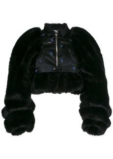 Comme des Garçons faux fur biker jacket