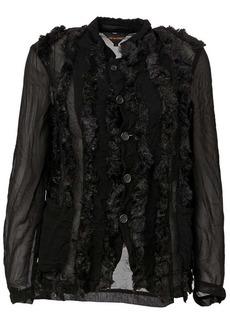 Comme des Garçons faux fur buttoned jacket