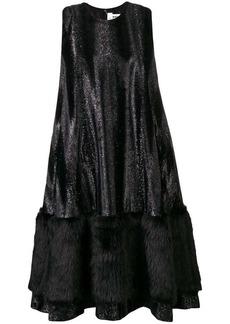 Comme des Garçons faux-fur skirt flared dress