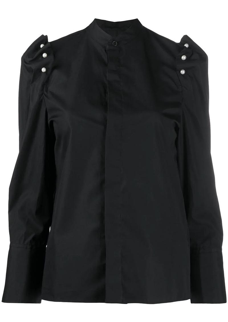 Comme des Garçons faux-pearl embellished shirt