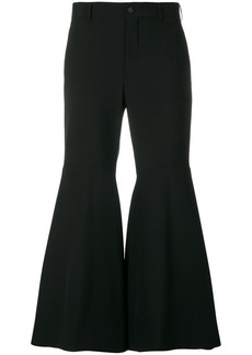 Comme des Garçons flared cropped trousers
