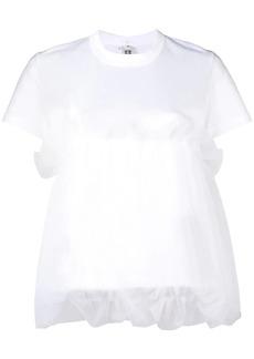 Comme des Garçons flared short-sleeve top