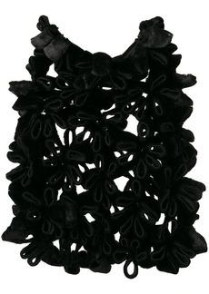 Comme des Garçons floral brocade design cape