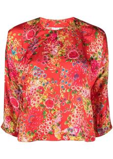 Comme des Garçons floral-print blouse