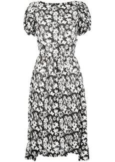 Comme des Garçons floral print pleated dress