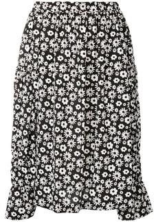 Comme des Garçons floral print pleated skirt