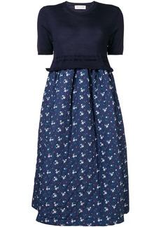 Comme des Garçons floral print quilted skirt dress