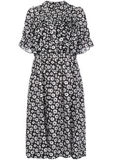 Comme des Garçons floral print ruffled dress