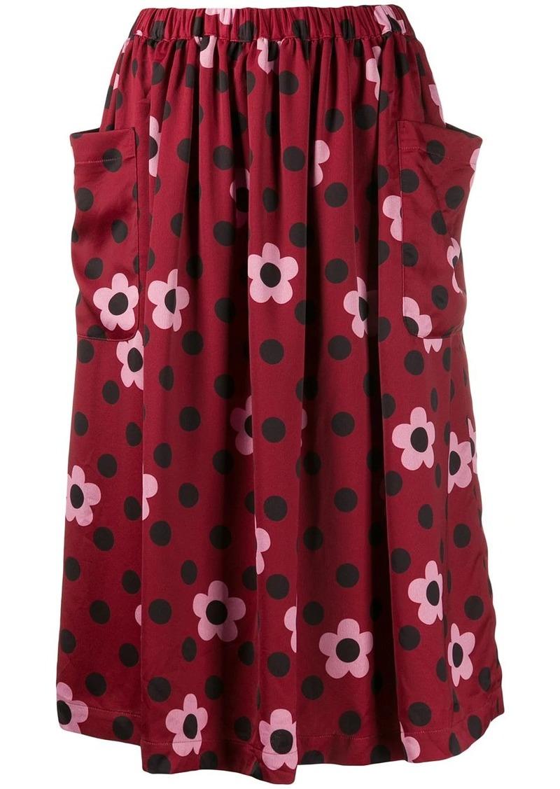 Comme des Garçons floral print skirt