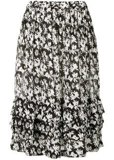 Comme des Garçons floral print tiered skirt