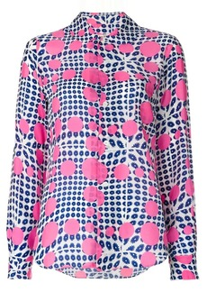 Comme des Garçons flowers and dots print shirt