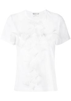 Comme des Garçons folded lace front T-shirt