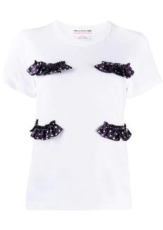Comme des Garçons frill embroidered T-shirt