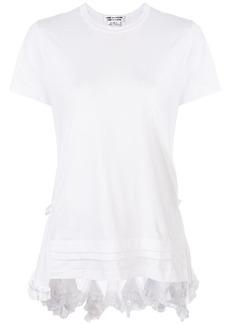 Comme des Garçons frilled high low T-shirt