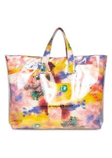Comme des Garçons Futura 2000 Print Cotton & Pvc Tote Bag