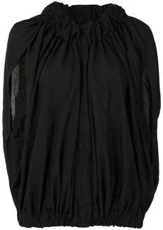 Comme des Garçons gathered cape blouse