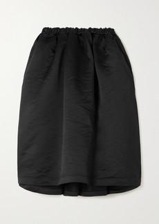 Comme des Garçons Gathered Satin Midi Skirt