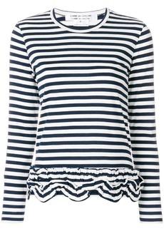 Comme des Garçons gathered striped T-shirt