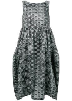 Comme des Garçons geometric print full dress