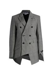Comme des Garçons Glen Check Wool-Blend Spiral Jacket